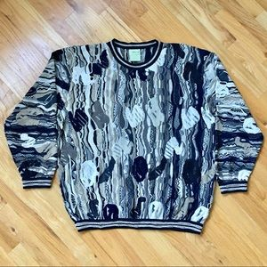 COOGI Vintage Crew Neck Sweater colorful 3D 90s?